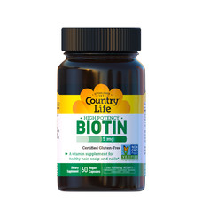 Вітаміни групи В (Biotin) 5 мг 60 капсул ТМ Кантрі Лайф / Country Life - Фото