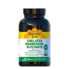 Магній хелатний гліцинат (Magnesium Glycinate) 400 мг 90 таблеток ТМ Кантрі Лайф / Country Life - Фото