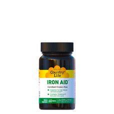 Допомога заліза (Iron Aid) 15 мг 60 таблеток ТМ Кантрі Лайф / Country Life - Фото