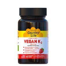 Вітамін K2 (Vegan K2) 500 мкг 60 капсул ТМ Кантрі Лайф / Country Life - Фото