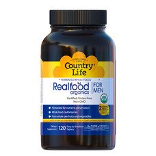 Вітамінно-мінеральний комплекс Real food organics для чоловіків 120 таблеток ТМ Кантрі Лайф / Country Life - Фото
