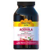 Ацерола вітамін С комплекс 500 мг жувальні таблетки №90 ТМ Кантрі Лайф / Country Life - Фото