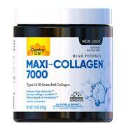 Коллаген с витамином А и С + биотин (Maxi-Collagen C and A + Biotin) 213 г порошок ТМ Кантри Лайф / Country Life  - Фото