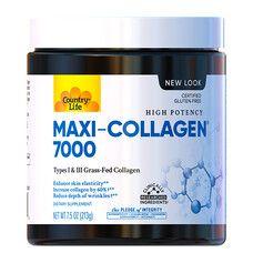 Коллаген с витамином А и С + биотин (Maxi-Collagen C & A + Biotin) 213 г порошок ТМ Кантри Лайф / Country Life