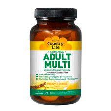 Мультивітаміни Adult Multi 60 жувальних таблеток ТМ Кантрі Лайф / Country Life - Фото