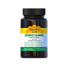 Бенфотіамін з вітаміном В-1 (Benfotiamine) 150мг ТМ Кантрі Лайф / Country Life 60 капсул - Фото