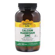 Кальций-Магний-Цинк + витамин D3 таблетки №180 ТМ Кантри Лайф / Country Life - Фото