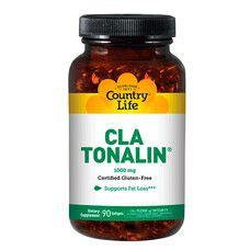 CLA Tonalin (Конъюгированная линолевая кислота) 1000 мг 90 капсул ТМ Кантри Лайф / Country Life