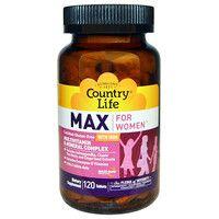 Витаминно-минеральный комплекс Max For Women с железом 120 таблеток ТМ Кантри Лайф / Country Life