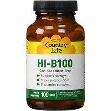 Витаминно-минеральный комплекс Hi-B-100 таблетоки №60 ТМ Кантри Лайф / Country Life