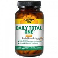 Витаминно-минеральный комплекс Daily Total One без железа 60 капсул ТМ Кантри Лайф / Country Life