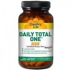 Вітамінно-мінеральний комплекс Daily Total One без заліза 60 капсул ТМ Кантрі Лайф / Country Life - Фото