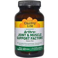 Витаминно-минеральный комплекс для поддержания костей, суставов и мышц Arthro-Joint&Muscle Support 60 капсул ТМ Кантри Лайф / Country Life