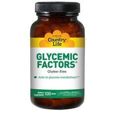 Glycemic Factors для стабилизации гликемического индекса 100 таблеток ТМ Кантри Лайф / Country Life