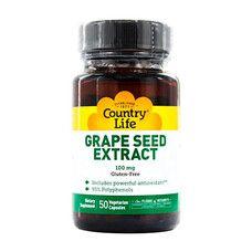 Экстракт виноградных косточек (Grape Seed Extract) 100 мг 50 капсул ТМ Кантри Лайф / Country Life