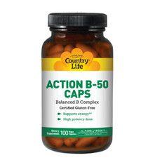 Витаминно-минеральный комплекс Action B-50 100 капсул ТМ Кантри Лайф / Country Life