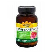 Комплекс вітамінів для травлення дітей KIDS CARE Country Life жувальні пастилки №120 - Фото