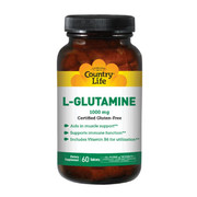 Аминокислота L-глютамин 1000 мг 60 таблеток ТМ Кантри Лайф / Country Life - Фото