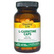 Жиросжигатель L-карнитин 500 мг 60 капсул ТМ Кантри Лайф / Country Life - Фото