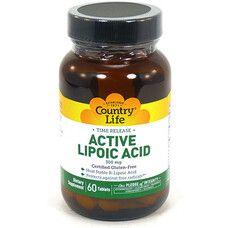 Active Lipoic Acid (Липоевая кислота) 300 мг 60 таблеток ТМ Кантри Лайф / Country Life