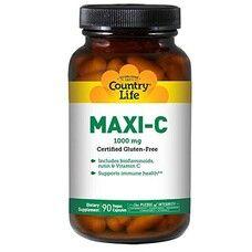 Витамины Maxi-C Caps 1000 мг 90 капсул ТМ Кантри Лайф / Country Life
