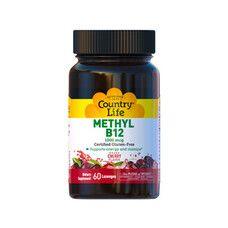 Methyl B12 1000 мкг 60 жувальних пастилок ТМ Кантрі Лайф / Country Life - Фото