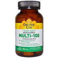 Витамины Мульти 100 таблетки №90 ТМ Кантри Лайф / Country Life