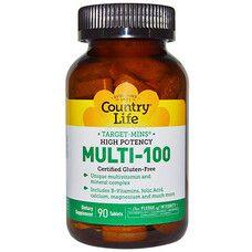 Вітаміни Multi-100 таблетки №90 ТМ Кантрі Лайф / Country Life - Фото