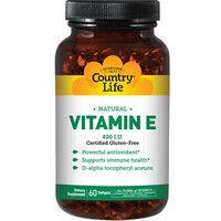 Витамин E капсулы №60 ТМ Кантри Лайф / Country Life