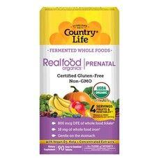 Органічний комплекс вітамінів і мінералів при вагітності Real food organics Prenatal 90 таблеток Country Life - Фото