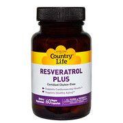 Resveratrol Plus (Ресвератрол Плюс) 60 капсул ТМ Кантри Лайф / Country Life - Фото