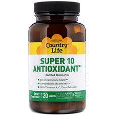 Витаминно-минеральный комплекс Super 10 Antioxidant 120 таблеток ТМ Кантри Лайф / Country Life