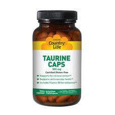 Таурин 500 мг 100 капсул ТМ Кантри Лайф / Country Life
