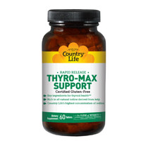 Био-активная добавка для поддержки щитовидной железы Thyro-Max Support 60 таблеток ТМ Кантри Лайф / Country Life