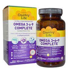Вітаміни Ultra Omega 3-6-9 90 капсул ТМ Кантрі Лайф / Country Life - Фото