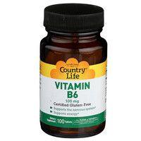 Витамин В6 100 мг Country Life 100 таблеток