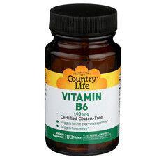 Вітамін В6 100 мг Country Life 100 таблеток - Фото