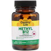Комплекс Methyl B12 3000 мкг ТМ Кантрі Лайф / Country Life 120 пастилок - Фото