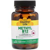 Комплекс Methyl B12 3000 мкг ТМ Кантри Лайф / Country Life 20 пастилок - Фото