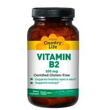 Вітамін B2 100 мг Country Life 100 таблеток - Фото