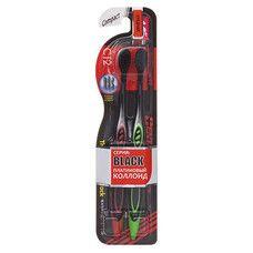 Зубная щетка ТМ Денталпро Блек / Dentalpro Black Compact Head средняя жесткость №2