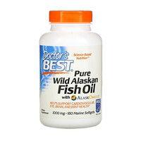 Аляскинский Рыбий Жир (Омега-3) Fish Oil with AlaskOmega Doctor's Best 180 капсул