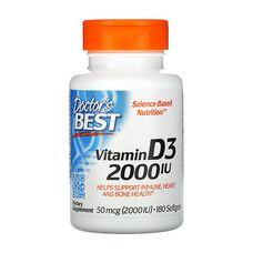 Витамин D3 (Vitamin D3) 2000IU Doctor's Best 180 желатиновых капсул - Фото