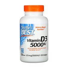 Витамин D3 (Vitamin D3) 5000IU Doctor's Best 720 желатиновых капсул - Фото
