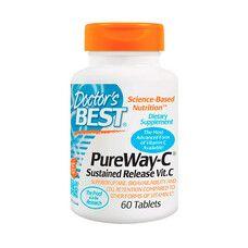 Вітамін C 12-часовий Pure Way Doctor's Best 60 таблеток - Фото