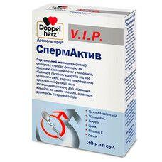 Витамины для мужского здоровья Doppel herz VIP Спермактив  капсулы N30 - Фото