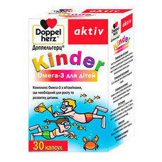 Доппельгерц Киндер Омега-3 для детей капсулы №30