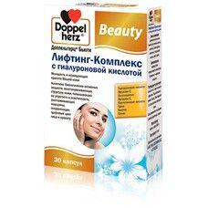Вітаміни Doppel herz Beauty Ліфтинг-комплекс з гіалуроновою кислотою капсули №30 - Фото
