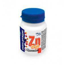 Дрожжи пивные с цинком таблетки 0.5 г №100