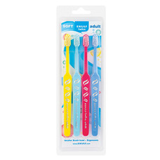 Набір зубних щіток EKULF Twice Adult (4 шт) - Фото